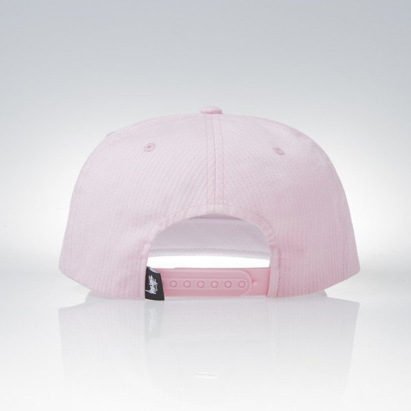 Stussy czapka snapback Stock Seersucker light pink