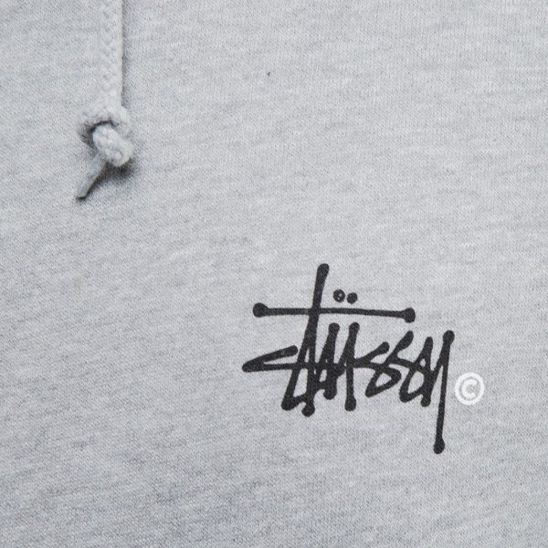 Stussy sweatshirt bluza Basic Logo hoody grey heather