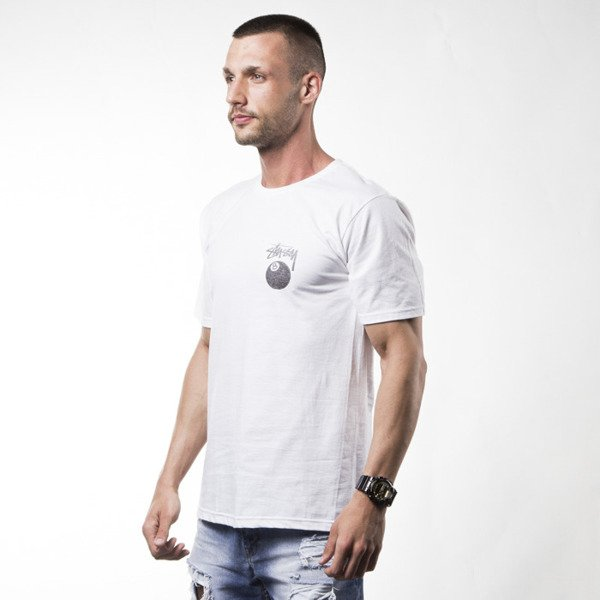 Stussy t-shirt koszulka 8 Ball Stamp white