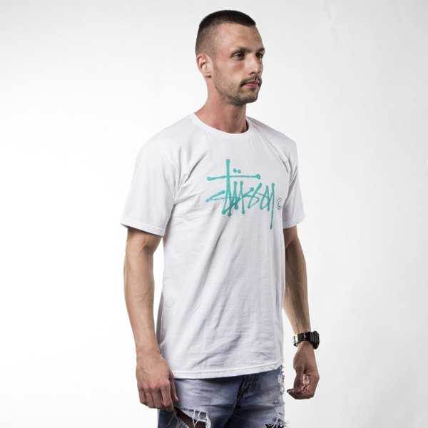 Stussy t-shirt koszulka Water Stock white