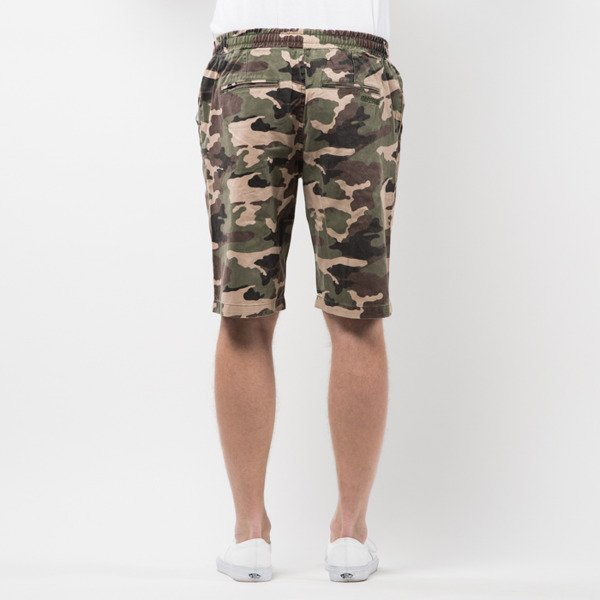 Szorty Mass Denim Shorts Chino Classics straight fit woodland camo SS 2017