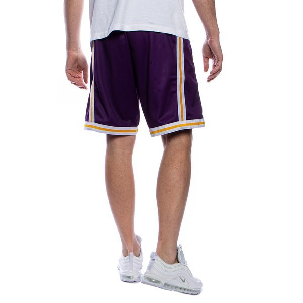 Szorty Mitchell & Ness Los Angeles Lakers fioletowe Big Face Short