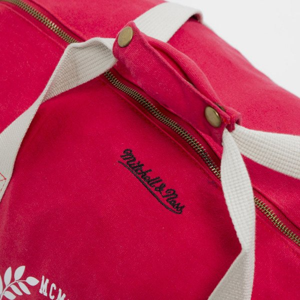 Torba Mitchell & Ness Own Brand red Laurel Duffle Bag