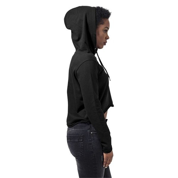 Urban Classics bluza Ladies Cropped Terry Hoody WMNS black