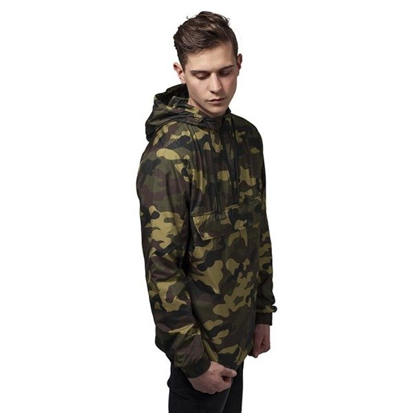 Urban Classics kurtka Camo Pull Over Windbreaker woodcamo