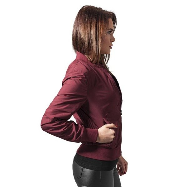 Urban Classics kurtka Ladies Light Bomber Jacket WMNS burgundy
