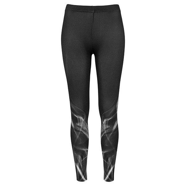 Urban Classics legginsy Ladies Smoke Leggings WMNS black / white