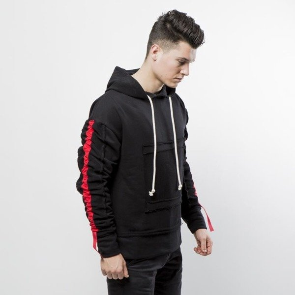 Urban Flavours bluza Stripe Red Hoodie black / red