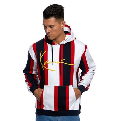 Bluza Karl Kani Signature Stripe Hoodie white/red/navy