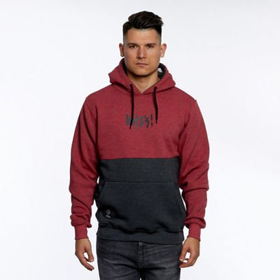 Bluza Mass Denim Sweatshirt Result Hoody heather claret
