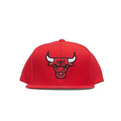 Czapka Mitchell & Ness Chicago Bulls Snapback Cap red Wool Solid Snapback